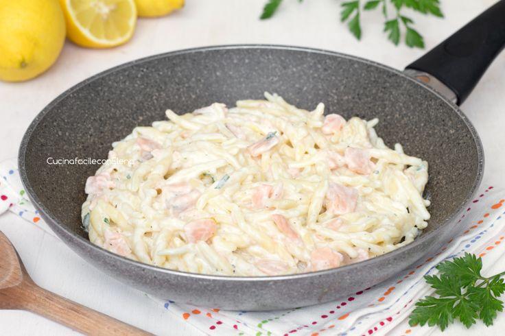 Trofie con crema al limone e salmone