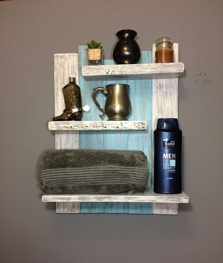 Coastal Decor Above the Toilet Bathroom Shelves-3 Shelf | Etsy – 529 Wall Shelves
