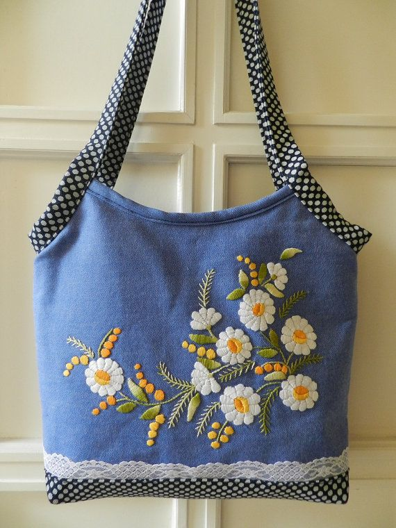 Marguerite handbag handmade item by Hungariangarden on Etsy