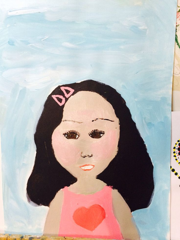 Portrait of her friend Chloe by my little 10 yr old resident artist. Love this one ....