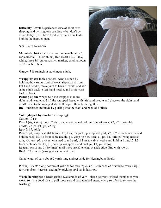 Dress free knit pattern