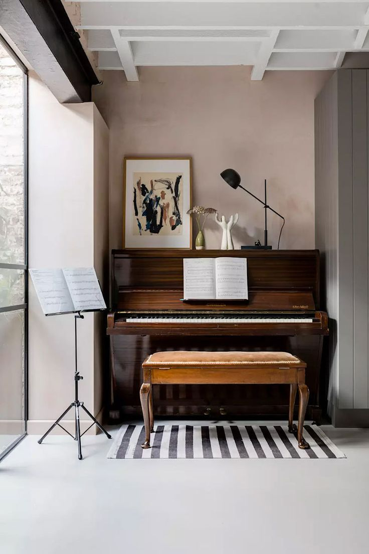 London Home With Greenhouse Piano Room Decor Piano Living Rooms