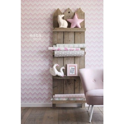 Everybody Bonjour 138709 bij Behangwebshop chevron wallpaper
