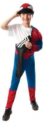 superherocostumesusa.com: : Ultimate Spider-Man Reversible Kids Costume