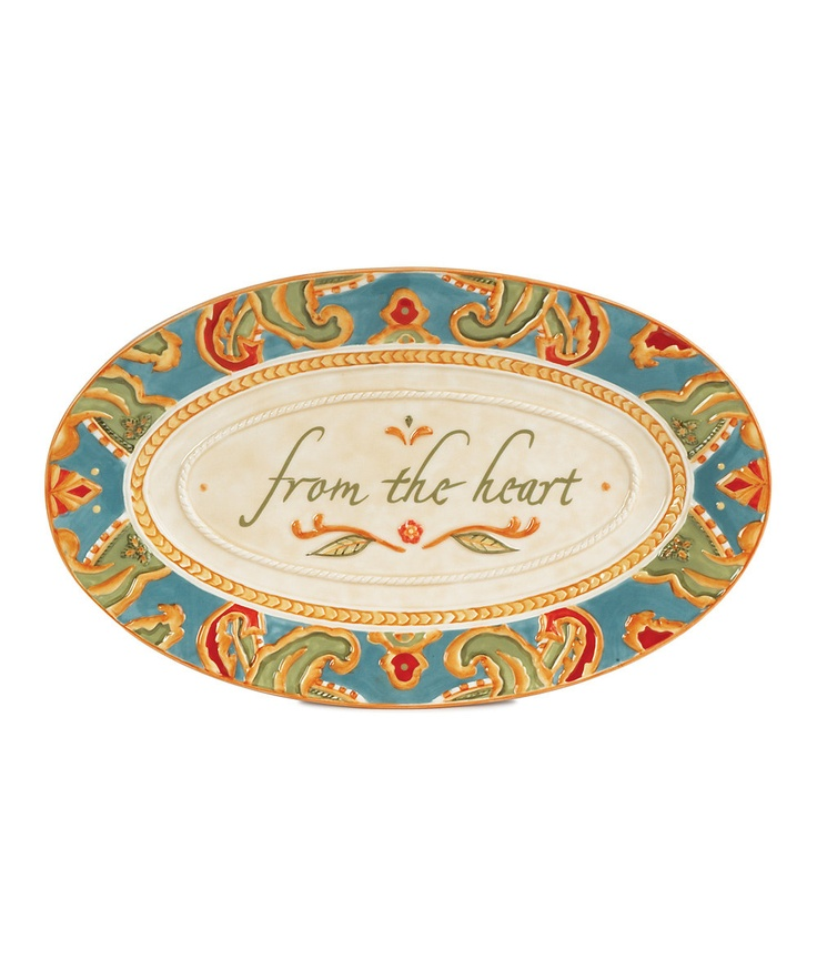 'From the Heart' Tray on #zulily: Trays, Paisley Sentiment, Carissa Paisley, Floyd Hearts, Sentiment Tray