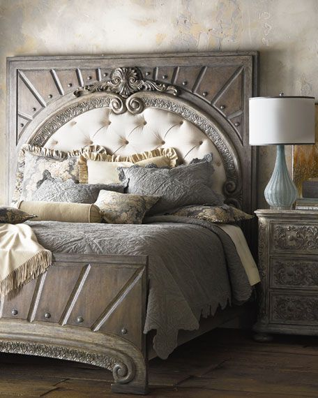 Horchow Hooker Furniture Raleigh King Panel Bed