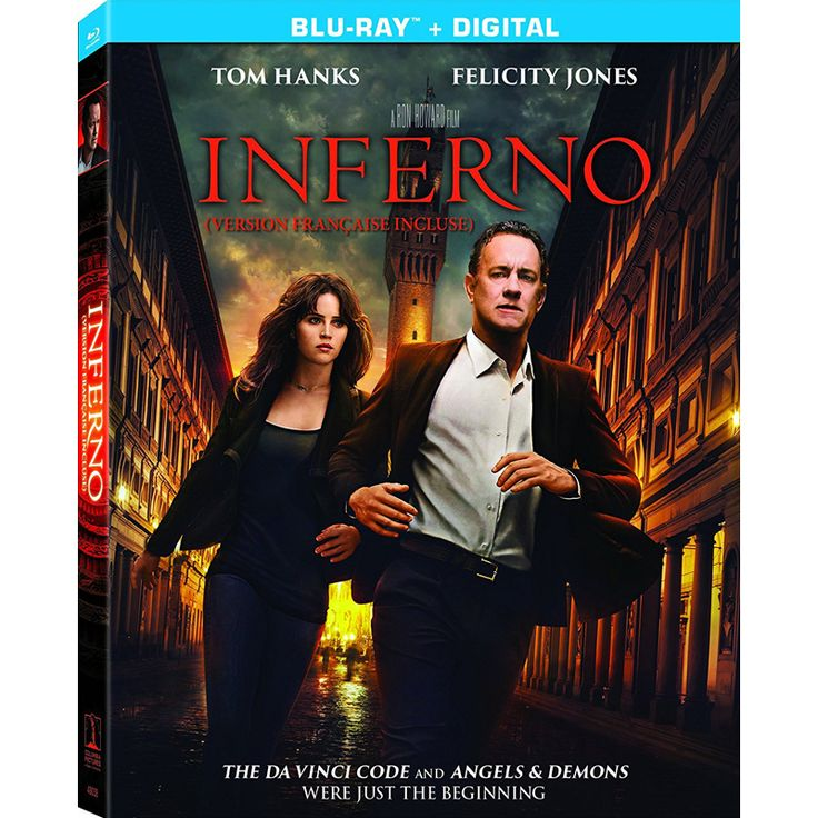 Inferno (Blu-ray) Release date: January 24, 2017. When Robert Langdon wakes up in an Italian hospital with amnesia, he teams up with Dr. Sienna Brooks, and together they must race across Europe against the clock to foil a deadly global plot. Robert Langdon awakens in a hospital room in Florence, Italy, with no memory as to what has transpired overContinue Reading