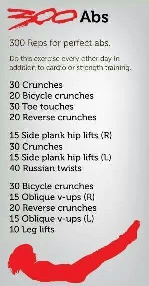 I WANT ABS FROM THE MOVIE 300! Add this to cardio you have yourself a good day's workout :)