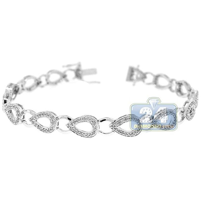 1 Ct Diamond Bracelet In 10k Gold 11 Grams List Price 1499 99 Deal Price 799 99 You White Gold Diamond Bracelet Bracelets Gold Diamond Diamond Bracelet