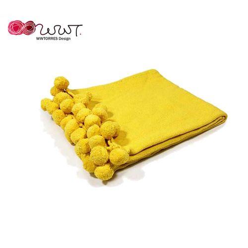 치어리더 Cheerleader 면 담요 - 노랑/ Yellow