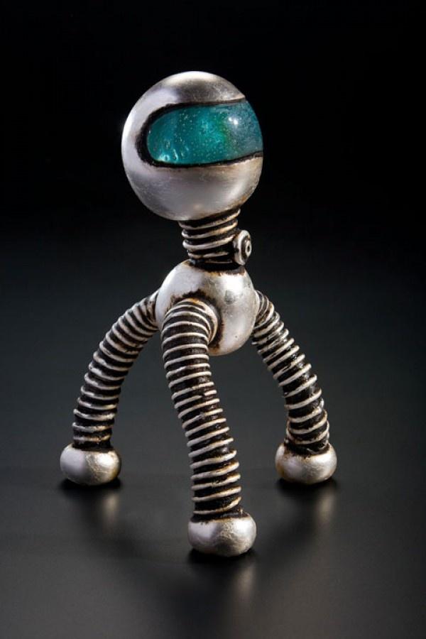 Naves espaciales de cristal soplado  Robot  Rik Allen