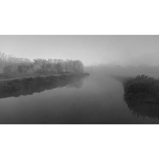 River with fog ...in november 2015