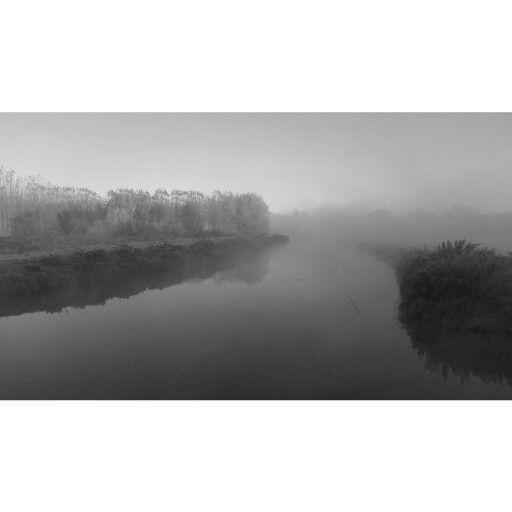 River with fog ...in november 2015