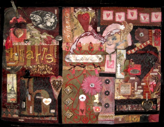All About Love-Fabric, Metal, Clay & Paper