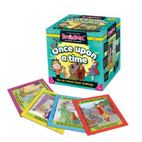 BrainBox Once Upon A Time contains 55 beautifully-illustrated cards showing scenes from some of the best loved children stories. The object of the game is to study a card for 10 seconds and then answer a question based on the roll of a die. If the question is answered correctly, the card is kept and the person with the most number of cards after 5 or 10 minutes is the winner. #onceupatime #learning #brainbox #camelotkids