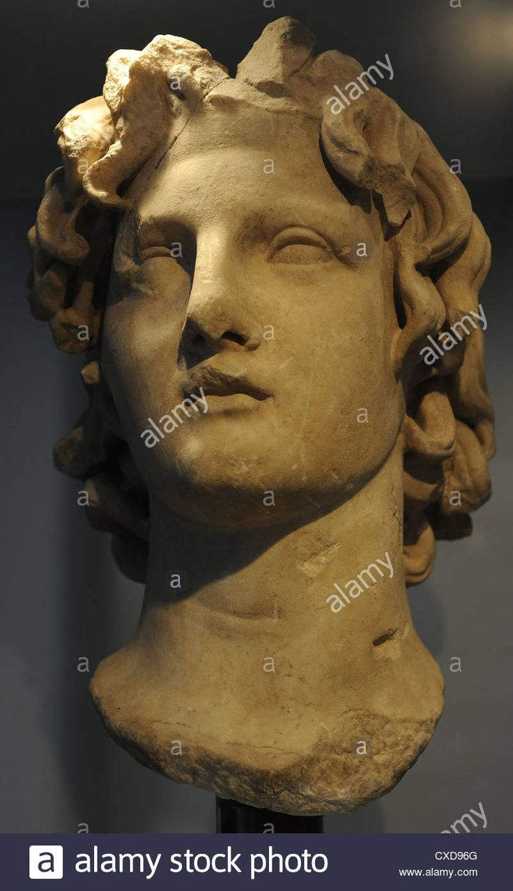 Download this stock image: Alexander III the Great (356-323 B.C.). King of Macedonia (336 to 323 B.C.). Roman bust. Ny Carlsberg Glyptotek. Copenhagen. - CXD96G from Alamy's library of millions of high resolution stock photos, illustrations and vectors.