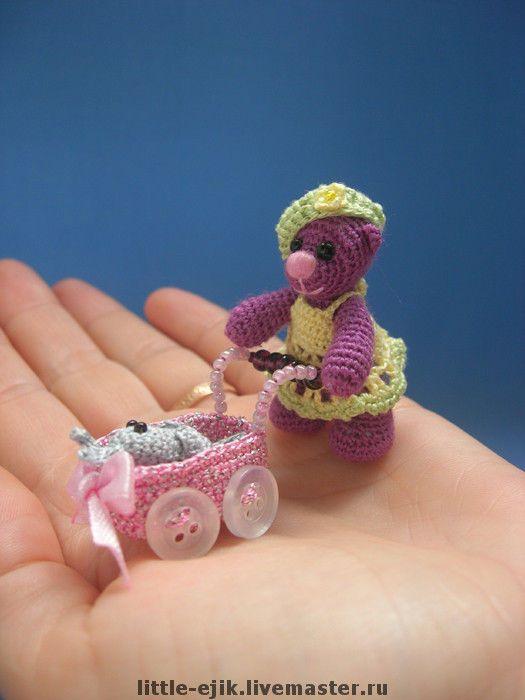 Купить мишка Лиза - авторская игрушка, вязаные игрушки, мишки, миниатюра…