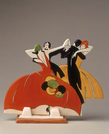 Art Deco: Age of Jazz figures, 1930, by Clarice Cliff.