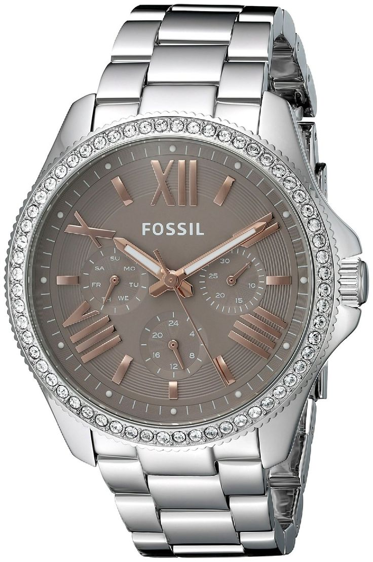 Fossil Cecile Multifunction Stainless Steel Watch ** Check this awesome watch by going to the link at the image.