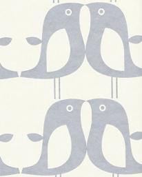 Tapet Penguin silver från Isak tapeter, tapetorama