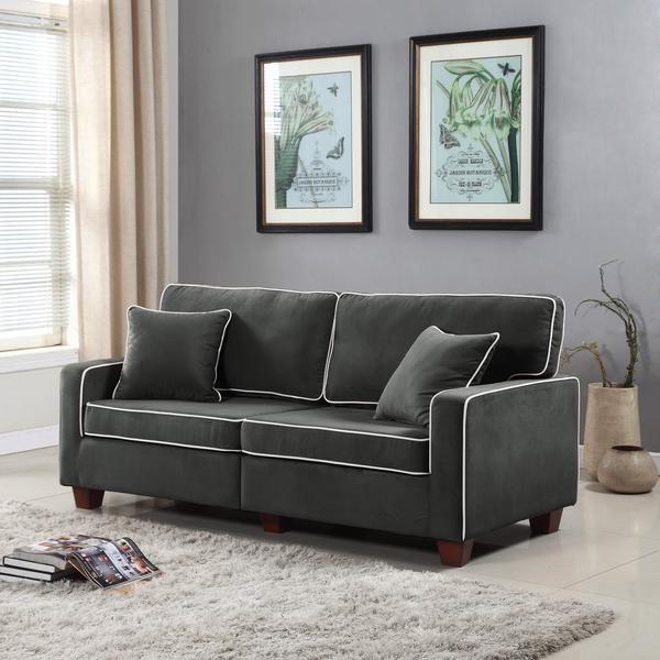 Snug Modern 2 Tone Velvet Loveseat In 2019 Living Room Furniture