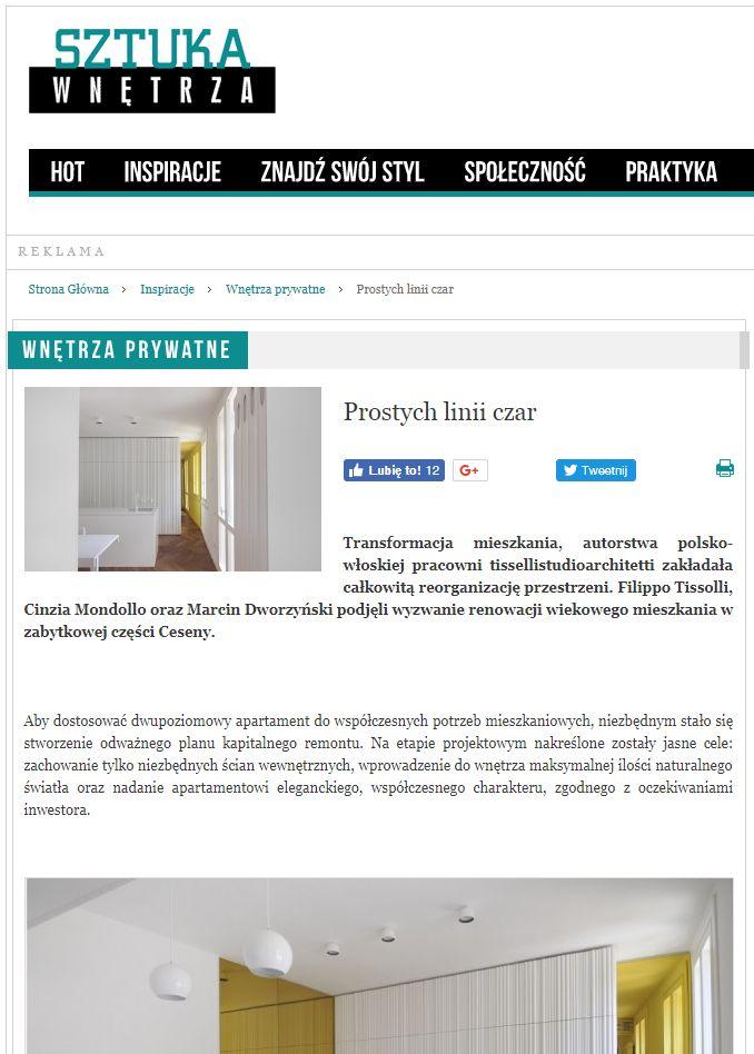 #tissellistudio single family penthouse in Cesena, published by Sztuka Wnętrza