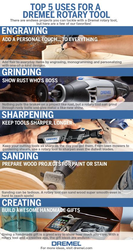 We're often asked what our favorite uses are for a #Dremel rotary tool. There are so many to list, we'll start with a few! #DIY #Crafts