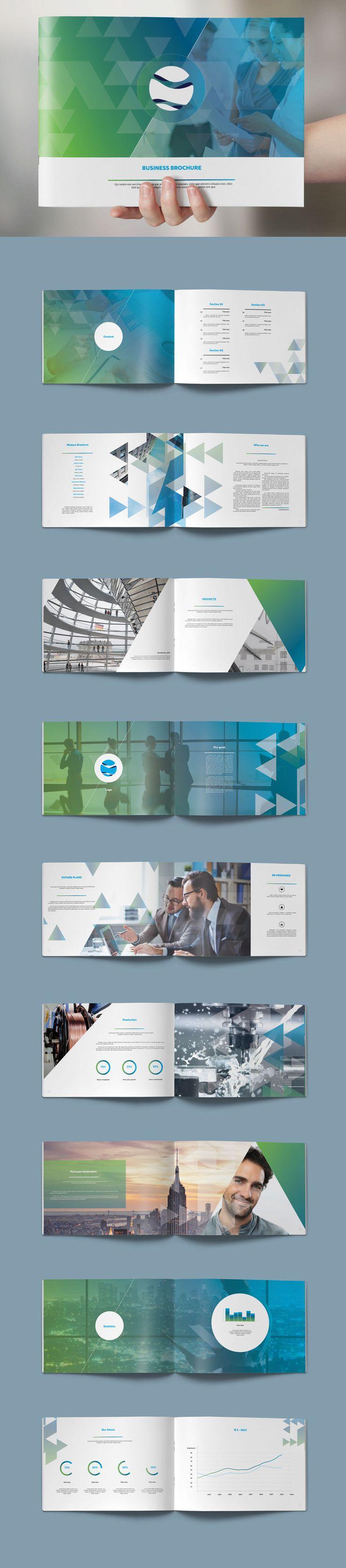 Modern Brochure 22 Pages Design Template InDesign INDD