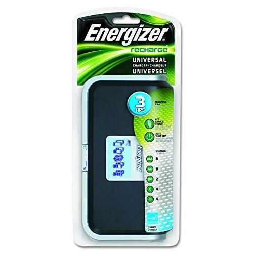 Energizer Recharge Universal Charger charges 8 AA/AAA 4 C/D or 1 9V NiMH Batteries