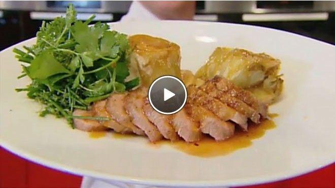 Eendenborst met een tarte tatin van witlof en sinaasappelsaus - Recept | 24Kitchen
