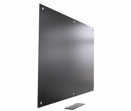 "Pegasus Magnetic Anti-Glare Glass Marker Board Low Gloss Black surface 48"" x 60"" – Anti-Glare Glass Blackboard Fingerprint-Free 4' x 5'"