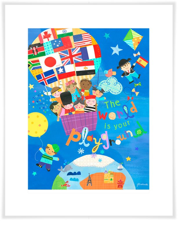 The World Is Your Playground, International Art Prints | Oopsy daisy