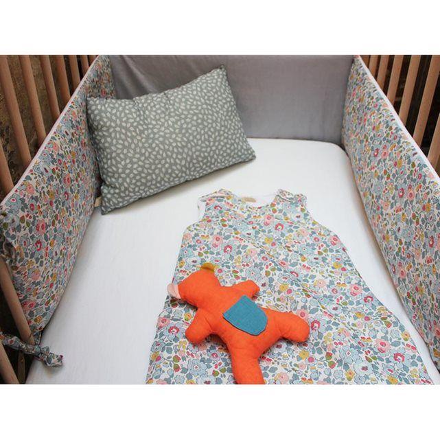 Tour de lit bébé coton liberty