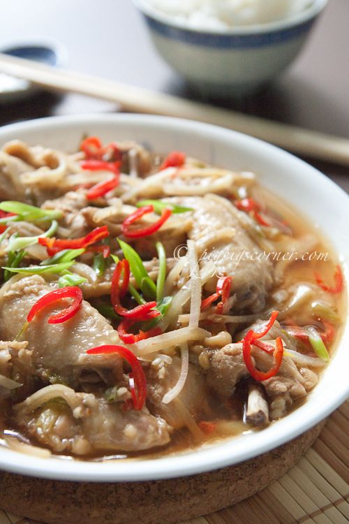 Steamed Fermented Soy Bean Chicken / can be made with pork ribs