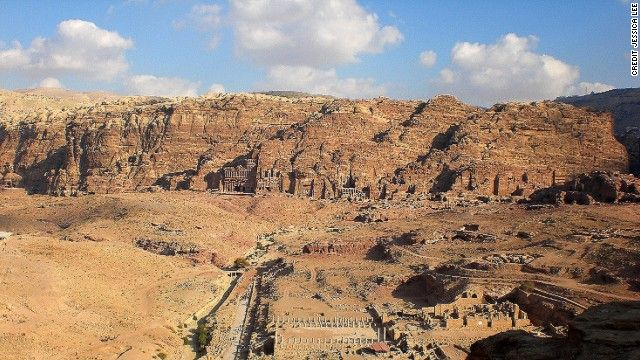 You can get a little-snapped view of the Nabataean's ancient capital from the cliff ridge.