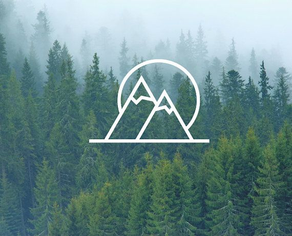 Mountains & Sun Decal / Mountain Decal / Nature Decals / Laptop Decals / Car Decals / Computer Decals / MacBook Decals / Window Decals