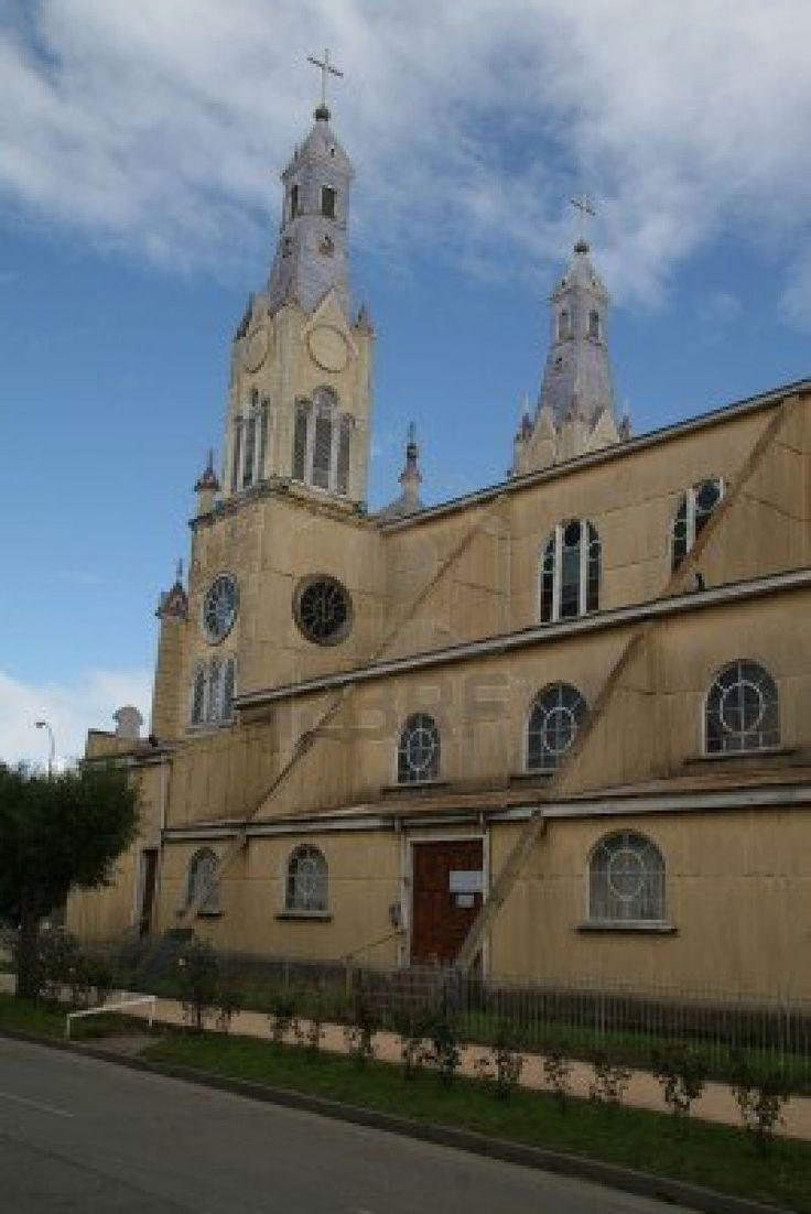 Catedral de Castro, capital de la isla de Chiloé en Chile