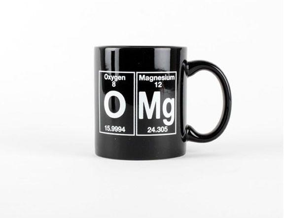 OMG! Caneca O Mg inspirada nos elementos da tabela periódica