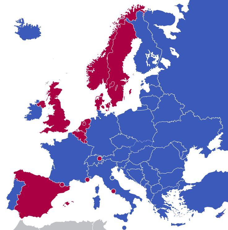 forms of government in europe monarchies red republics blue