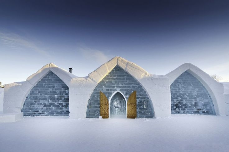 Hotel de Glace in Quebec is currently the only ice hotel in North America. It was first built in 2001, and is made of 15,000 tons of snow and 500,000 tons of ice.