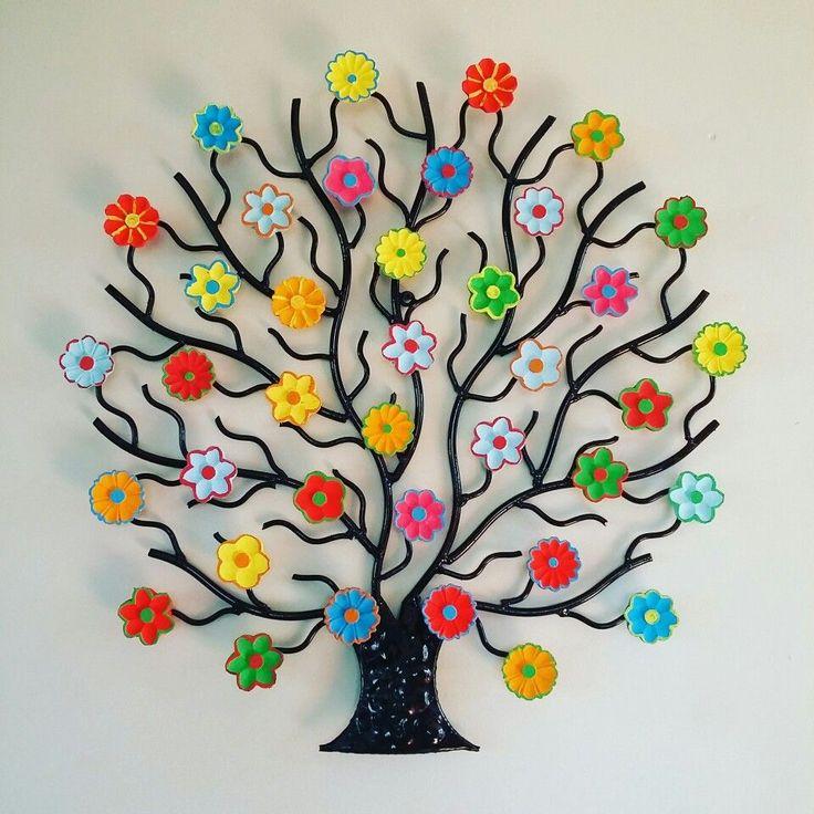 Картинка из крупинок деревце
