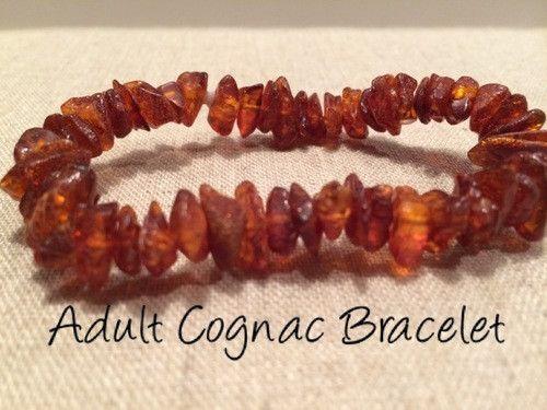 Polished Cognac Baltic Amber Bracelet for Big Kid, Child, or Adult