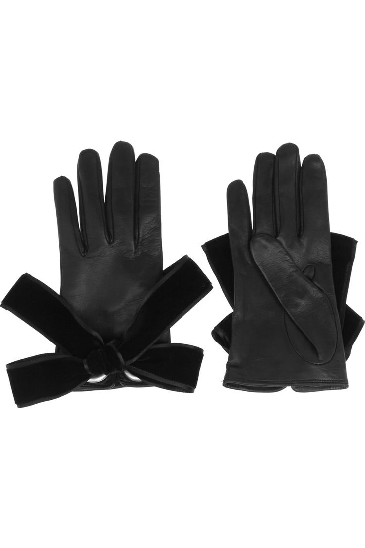 Buy leather gloves perth - Alexander Mcqueen Bow Embellished Leather Gloves Net A Porter Com