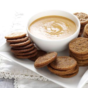 Spice Cookies with Pumpkin Dip Recipe from Taste of Home -- shared by Kelly McNeal of Derby, Kansas