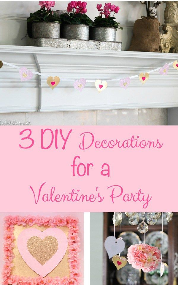 3 DIY Decorations for a Valentine's Party under $10