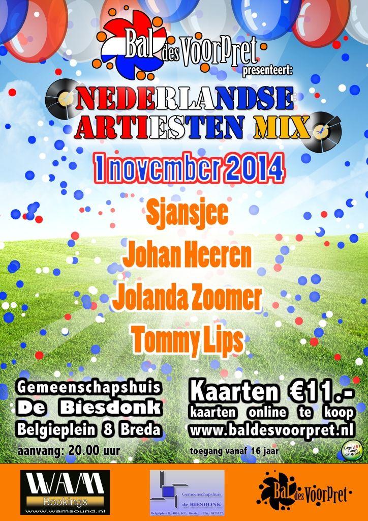 Zin in een feesie met Sjansjee? Kom a.s. zaterdag 1 november gezellig langs, tijdens het Bal Des Voorpret in gemeenschapshuis de Biesdonk in #Breda! www.baldesvoorpret.nl