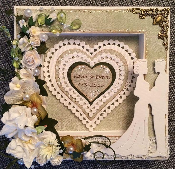 made by Annelie...: Bröllopskort x2