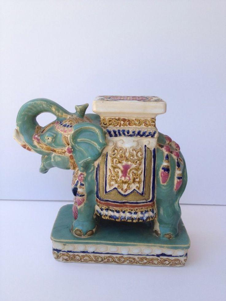 Details About Vintage Elephant Porcelain Ceramic Plant