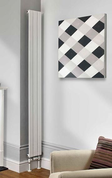 The Radiator Company Water Lily Single Vertical Designer Radiator in White Cast Iron Radiators - Period Radiators, Traditional Radiators, Designer Radiators, Contemporary Radiators, Modern Radiators UK