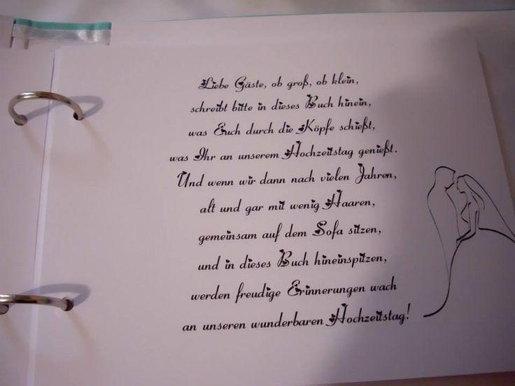 Gedicht Gästebuch Hochzeit